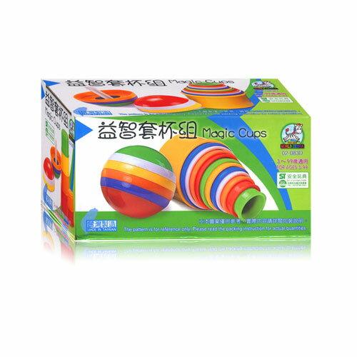 【奇買親子購物網】幼福文化 WZ210 益智套杯組(圓形套杯+圓球套杯)