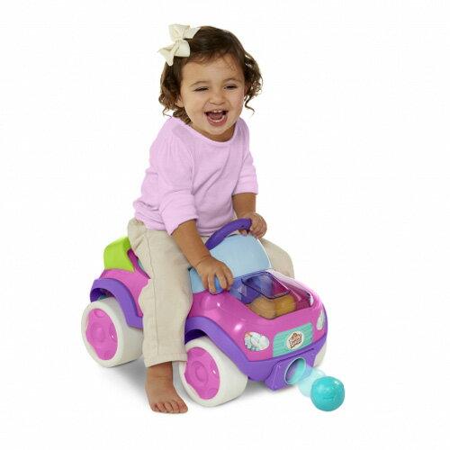 【奇買親子購物網】KidsII-來玩球吧-發射小球助步車-粉紅陽光