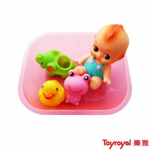 【奇買親子購物網】樂雅ToyRoyal軟膠洗澡組-大