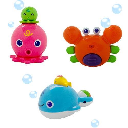 【奇買親子購物網】樂雅Toy Royal 洗澡玩具(螃蟹/鯨魚/章魚)