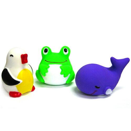 【奇買親子購物網】藝寶 動物洗澡玩具組(企鵝/青蛙/鯨魚)