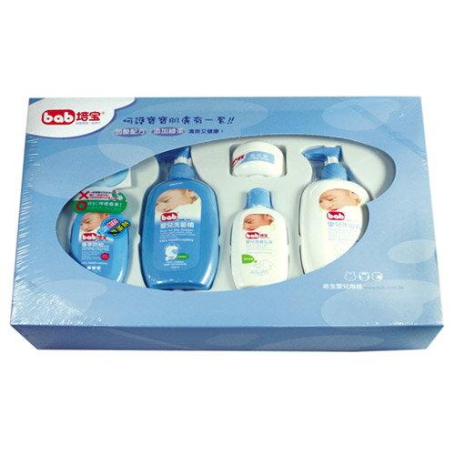 【奇買親子購物網】培寶bab洗護禮盒(五件組)