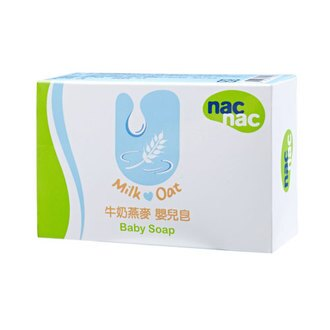 【奇買親子購物網】Nac Nac寶貝可愛牛奶燕麥嬰兒皂 75g