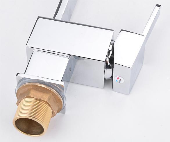 Contemporary Kitchen Bar / Bathroom Vessel Sink Faucet Swivel Spout 4