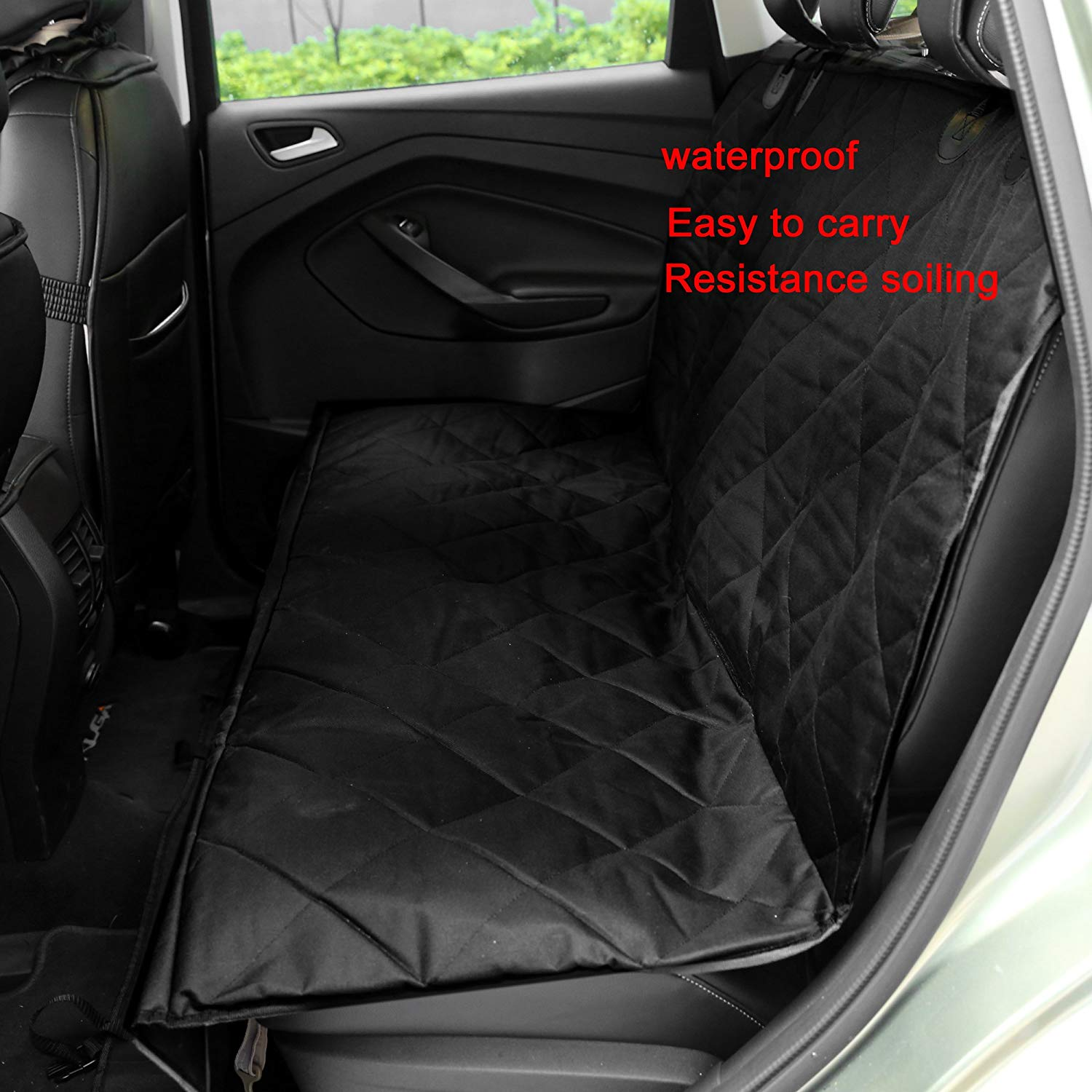 Dog/Cat Car Seat Cover Waterproof Hammock Non-Slip Pet Rear Seat Protector Covers for Cars Trucks Suv 1