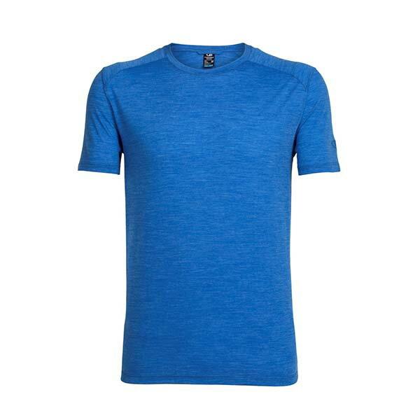 《台南悠活運動家》icebreaker 103608 男 COOL-LITE 圓領短袖上衣- 亞麻藍