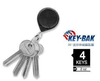 [ KEY BAK ] mini-Bak 36吋迷你伸縮鑰匙圈 0050-005黑