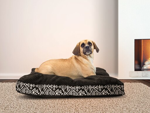FurHaven Pet Bed Plush Kilim Pillow Deluxe Mattress Pet Bed for Dogs & Cats - Available in Multiple Colors & Sizes