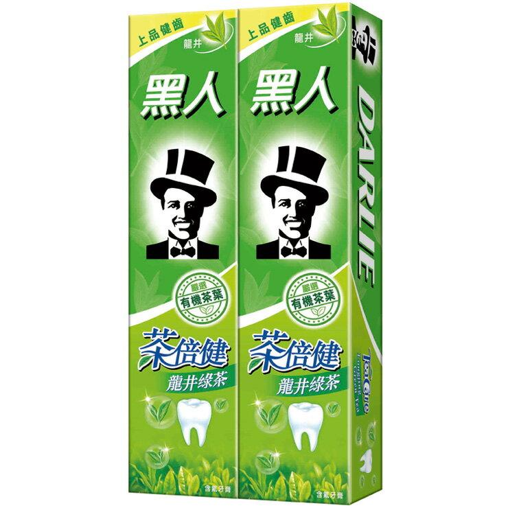 黑人 茶倍健龍井綠茶牙膏 160gX2入