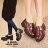 格子舖*【AA7769】MIT台灣製 韓版光澤亮皮 金屬釦環魔鬼氈穿脫 鋸齒厚底超粗低跟 短靴 踝靴 2色 0
