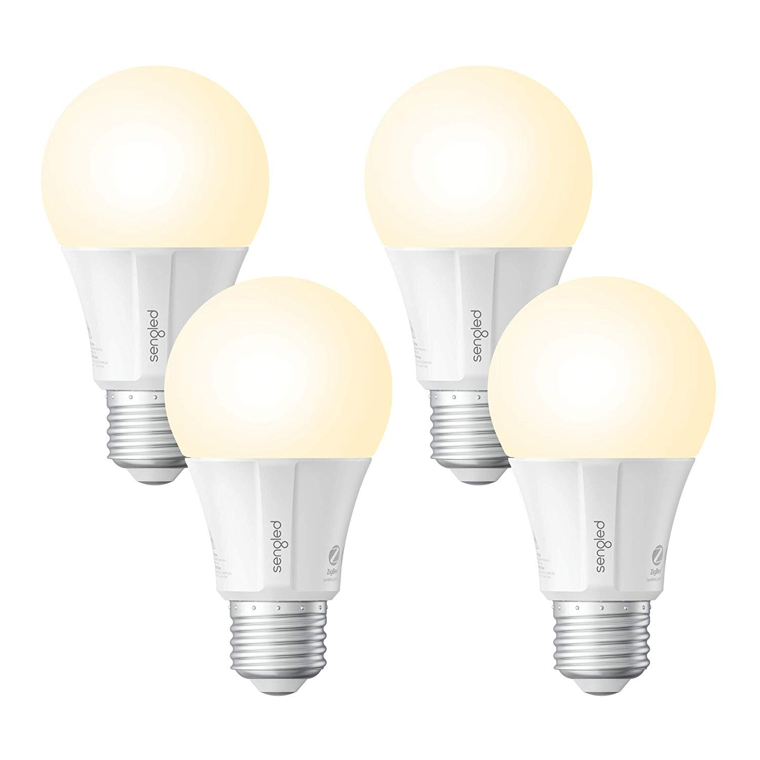 4-Pack Smart LED Soft White Bulb 2700K A19 60W Works With Alexa Google Assistant
