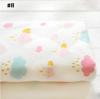 嬰兒【針織純棉】床包。嬰兒床單。嬰兒床罩-可愛雲朵