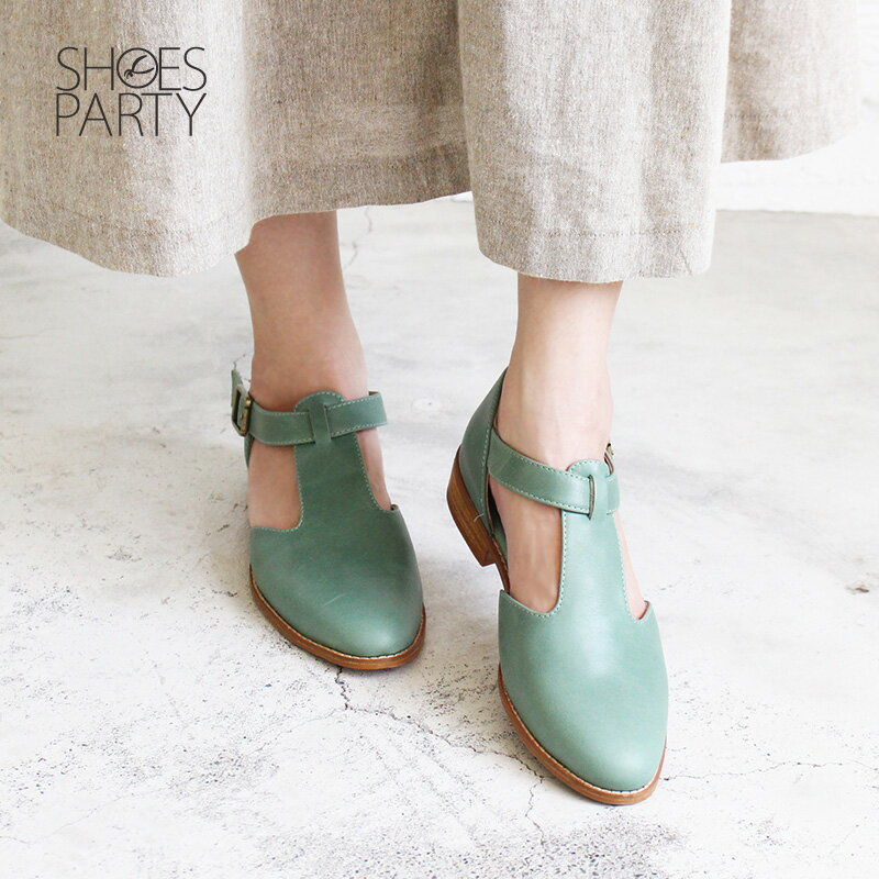 【S2-17328L】T字素面真皮牛津鞋_Shoes Party 4