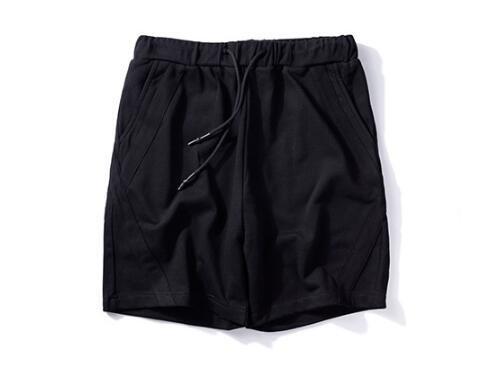 FINDSENSEMD韓國時尚休閒潮男寬鬆純色側邊交叉設計休閒短褲五分褲運動短褲