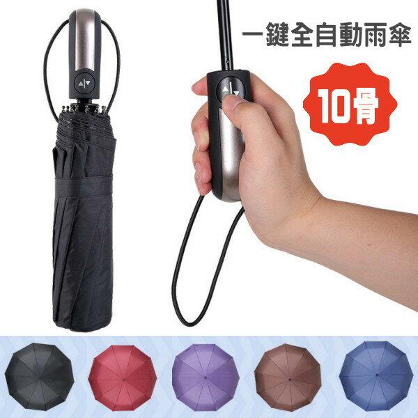 【雨傘】 高質感純色加大輕巧十固全自動雨傘 自動傘 陽傘 折疊傘