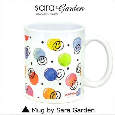 客製化 陶瓷 馬克杯 咖啡杯 手繪繽紛笑臉