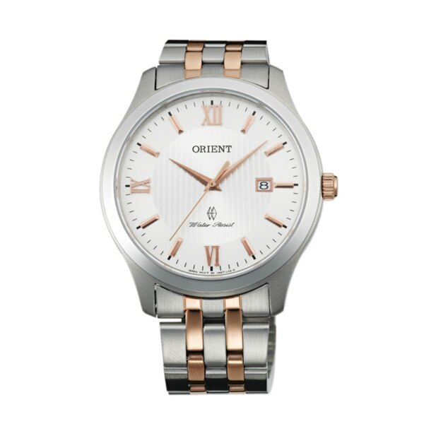 Orient 東方錶(FUNE7006W)雙色羅馬紳士簡約腕錶/白面40mm