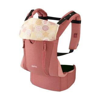 Aprica愛普力卡 - Colan Hug Nature 親膚舒適款 黃金比例分壓腰袋型揹巾 (胭脂粉)