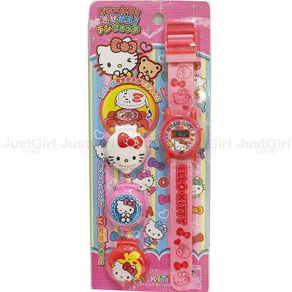 HELLO KITTY 手錶 玩具手錶 兒童錶 電子錶 玩具 正版日本進口 限定販售 * JustGirl *