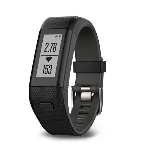 GARMIN vivosmart HR+腕式心率GPS智慧手環~沉穩黑