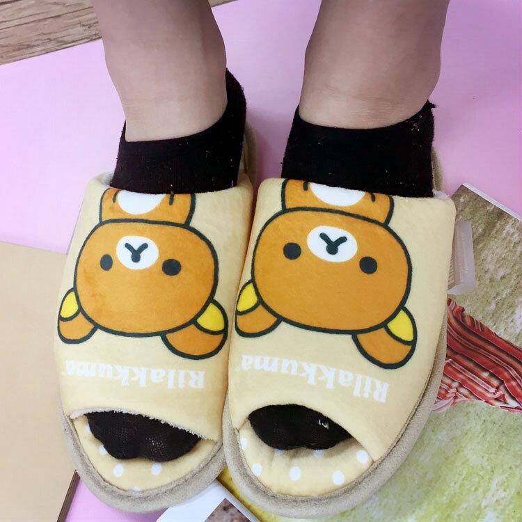 PGS7 日本卡通系列商品 - 拉拉熊 絨毛 拖鞋 杏色 鞋子 室內拖 拉拉雄 懶懶熊 鬆弛熊 【SFV6820】