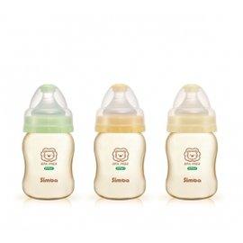 【買3支贈Baby King奶嘴夾】小獅王 辛巴 Simba PPSU寬口葫蘆小奶瓶 200ml (S6186)【紫貝殼】