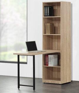 【尚品家具】JF-365-2哈佛4尺L型梧桐鐵腳書桌櫃