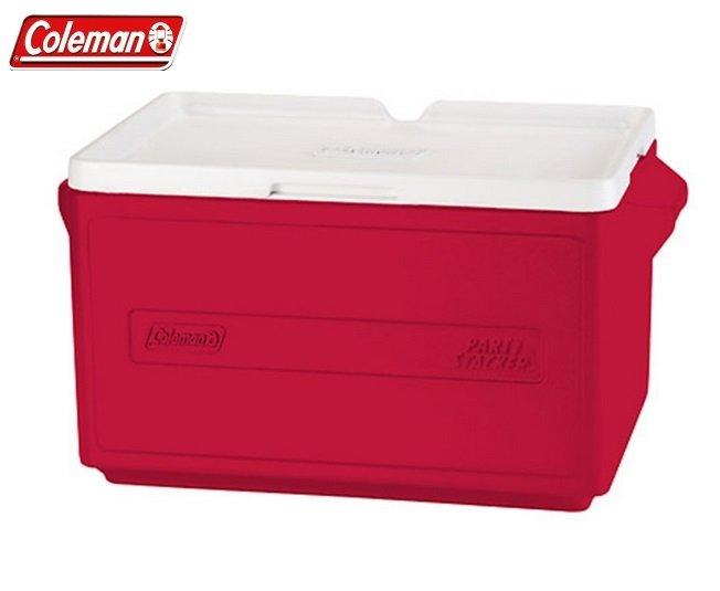 [ Coleman ] 31L 置物型冰桶 紅色 / 冰箱 / 保冷 / 公司貨 CM-1329