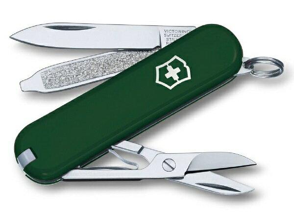 【【蘋果戶外】】victorinox 0.6223.4【墨綠/7功能/58mm】CLASSIC SD 瑞士刀工具組 瑞士維氏不鏽鋼軍刀/戶外救急工具刀