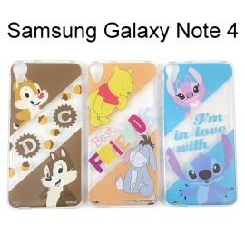 迪士尼透明軟殼 Samsung Galaxy Note 4 N910U [最佳拍檔] 奇奇蒂蒂 小熊維尼 史迪奇【Disney正版授權】
