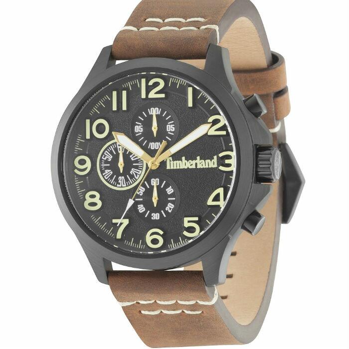 Timberland 天柏嵐 TBL.15026JSB / 02A 美式三眼流行腕錶 / 黑面 46mm - 限時優惠好康折扣