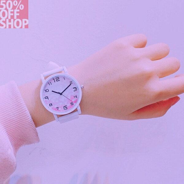 50%OFFSHOP韓國ulzzang原宿風中韓版時尚潮流復古簡約個性情侶手錶(6色)【H034725WH】
