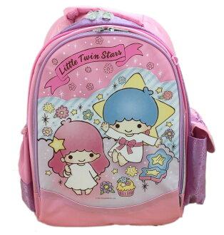 【真愛日本】16062800026後背書包L-TS星星甜點粉紫  三麗鷗家族 Kikilala 雙子星 背包 書包 正品