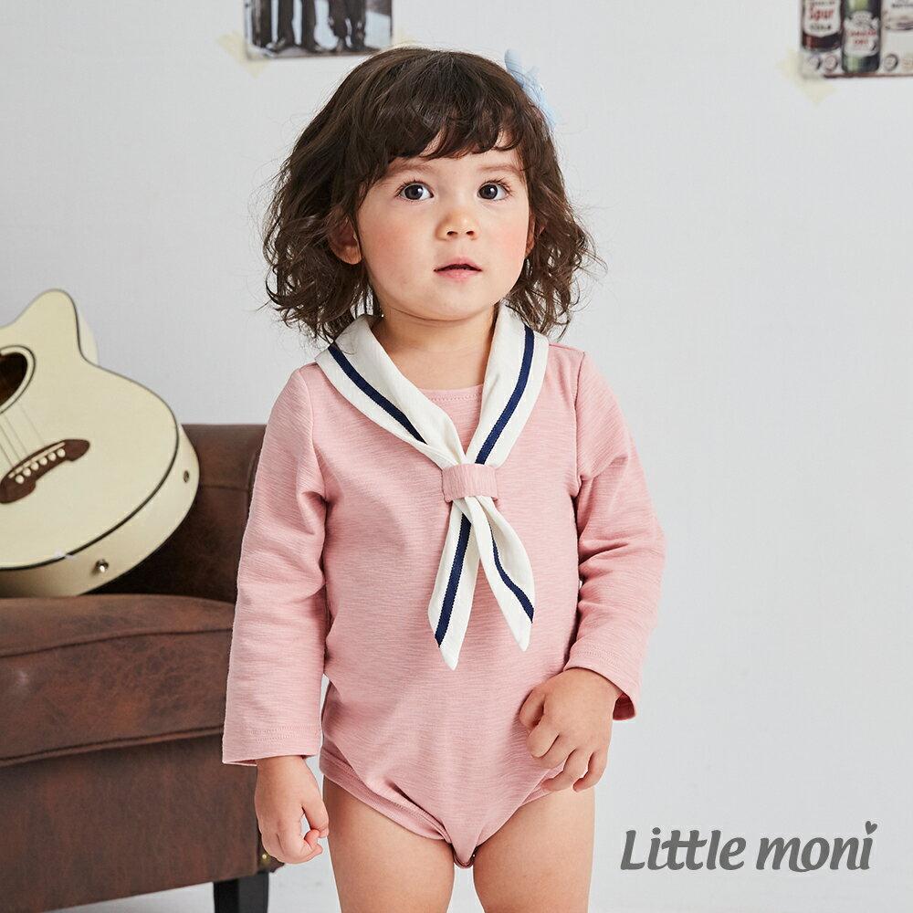 Little moni 海軍學院風包屁衣-粉紅 1