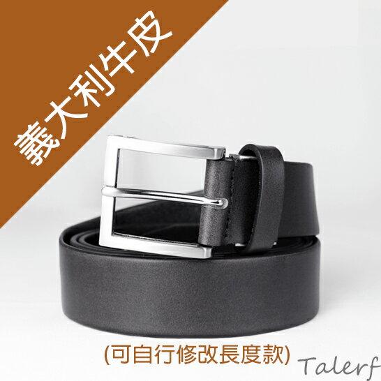 泰樂福購物網:【TALERF】時尚素面單層皮帶(黑色)-男→現貨