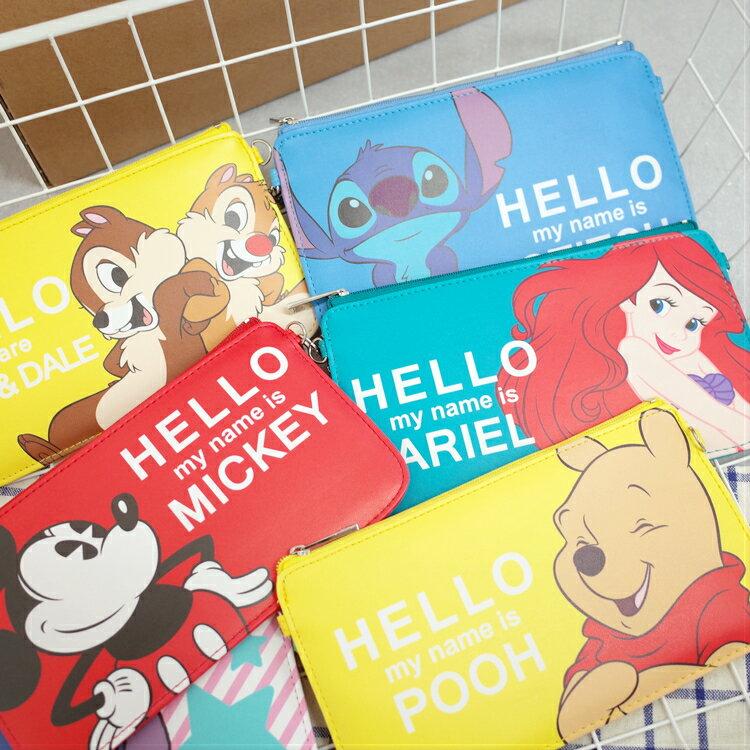 PGS7 迪士尼系列商品 - 迪士尼 Hello 系列 手機袋 手機包 收納包 維尼 米奇 史迪奇【SIK7145】