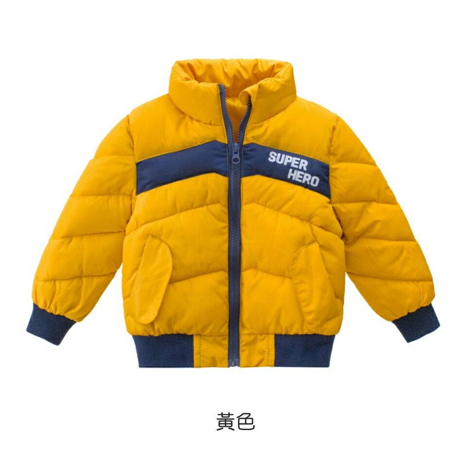 男童撞色拼接鋪棉立領外套 厚外套 外套 男童 鋪棉外套 橘魔法 現貨 童裝【p0061200712203】 1