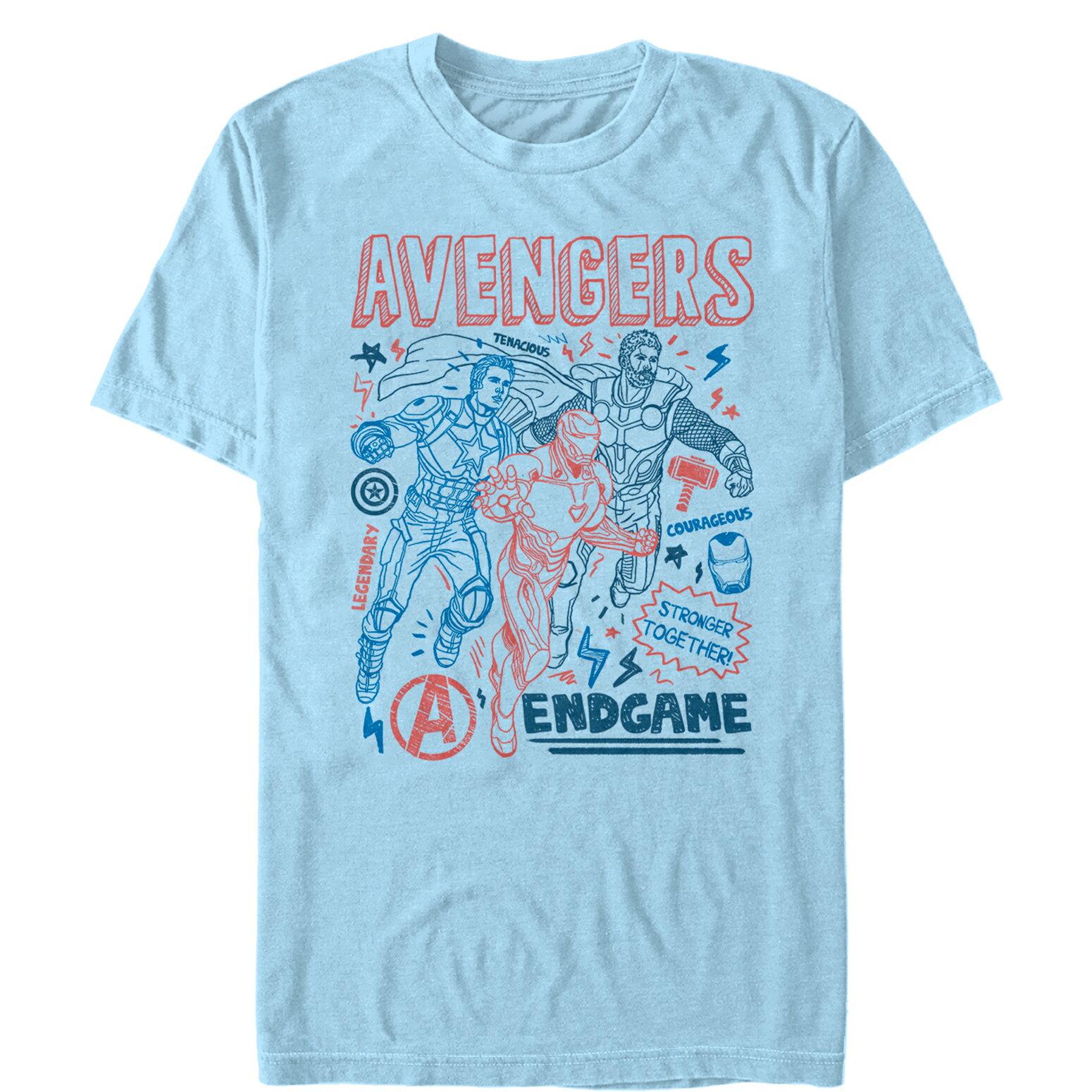 9e1847b4cd85 FifthSun: Marvel Avengers: Endgame Cartoon Doodle Print Mens Graphic ...
