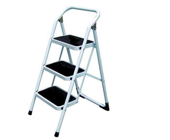 【銳冠】LH-03鐵梯 大踏板3階工作梯 扶手梯 折疊梯