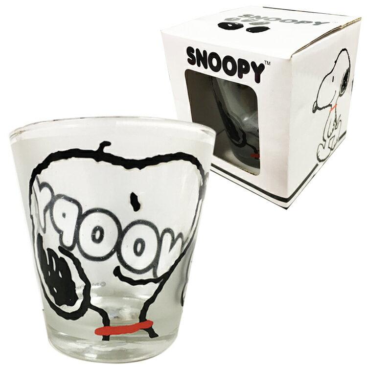 SNOOPY 史努比 玻璃杯 馬克杯 水杯 杯子 茶杯 透明杯 禮物 臉 日本進口正版 526131