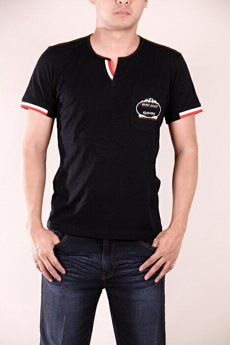 【CS衣舖 】韓系 合身版 萊卡彈力 短袖T恤 3204 5
