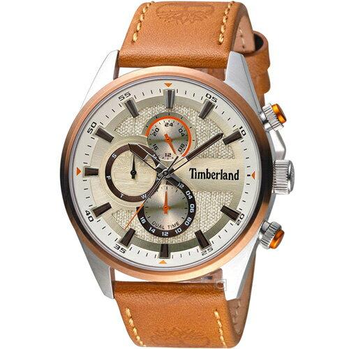 Timberland 天柏嵐 雙時區休閒皮帶錶(TBL.15953JSTBN / 04)46mm 0
