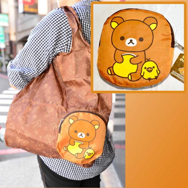 拉拉熊懶懶熊購物袋手提袋日本正版