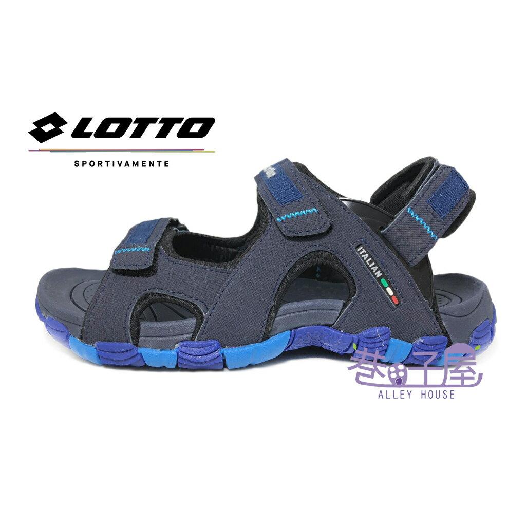 【巷子屋】義大利第一品牌-LOTTO樂得 男款避震兩穿式戶外專用涼拖鞋 涼鞋 拖鞋 [5586] 丈青 超值價$398