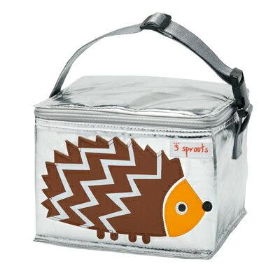 【淘氣寶寶】加拿大 3 Sprouts 午餐袋-刺蝟【 保溫效果,貼心扣環 23 cm寬*17cm高*18cm深】【 貨】