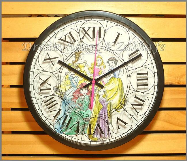 日本正版 Disney 迪士尼 公主 掛鐘/時鐘《 靜音無聲連續機芯 》★ 簡單時尚可愛 ★ 夢想家精品家飾