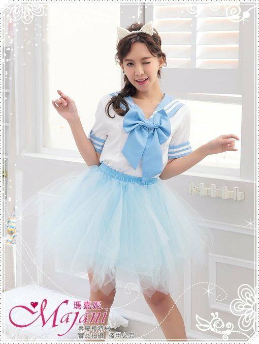 [瑪嘉妮Majani]日系中大尺碼-甜美澎澎裙 蓬蓬裙 舞台表演 尾牙 A款(水藍色)特價389 可超取