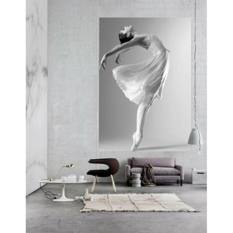 舞蹈室芭蕾舞者3D玄關過道隔斷背景墻壁紙印度風情瑜伽館墻紙壁畫《台北日光》