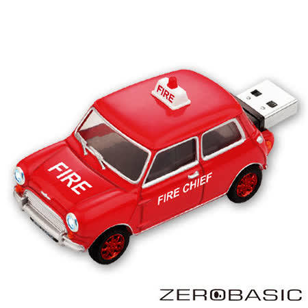 ????登芳3C????ZEROBASIC Mini Cooper 消防車 16GB 隨身碟