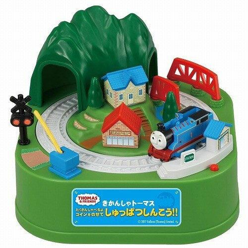NOBA 不只是禮品:湯瑪士小火車過山洞存錢貯金箱日本帶回正版商品